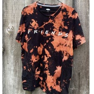FRIENDS TV Show Reverse Bleach Tie Dye Tee